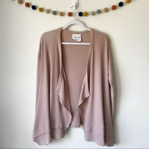 Sadie & Sage Tiered Boho Wrap Cardigan Sweater